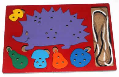 Шнуровка Ежик класс стандарт - Детская развивающая игра