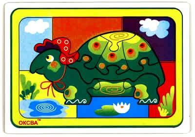 Развивающая головоломка Черепаха - Размеры: 210 mm × 3 mm × 150 mm