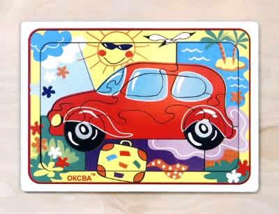 Развивающая головоломка Автомобиль - Размеры: 210 mm × 3 mm × 150 mm