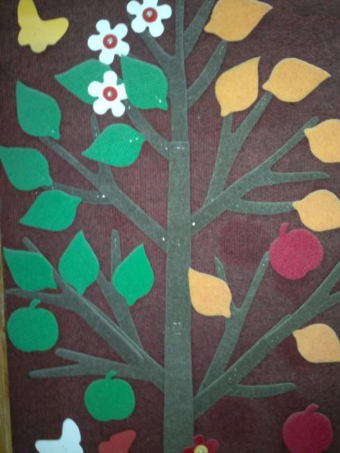 Конструктор из ковролина Дерево -