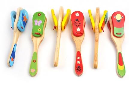 Кастаньеты большие  (МДИ) - Кастаньеты - это замечательная игрушка для малышей, изготовленная из натурального дерева. Цвета в ассортименте.