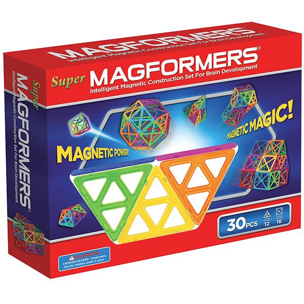 Магнитный конструктор MAGFORMERS 63078 Набор Супер - 30 - В комплект входит 30 деталей.