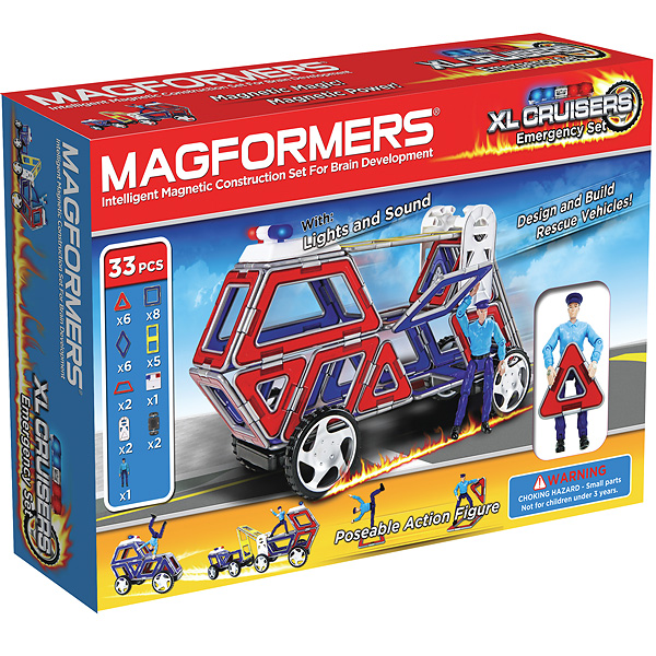 Магнитный конструктор MAGFORMERS Набор cruisers службы спасения - В комплект входит 33 детали.
