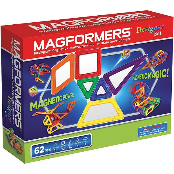 Магнитный конструктор MAGFORMERS 703002 Дизайнер сет - В комплект входит 62 детали.