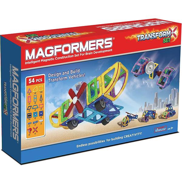 Магнитный конструктор MAGFORMERS 707001 Transform set - В комплект входит 54 детали.