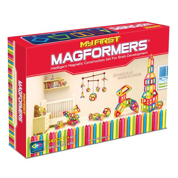 Магнитный конструктор MAGFORMERS 63108 My First Magformers 54 - В комплект входит 54 детали.