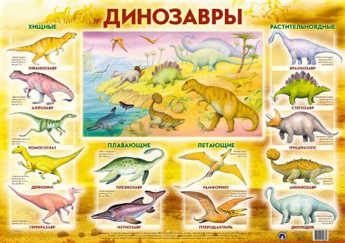 Плакат Динозавры -