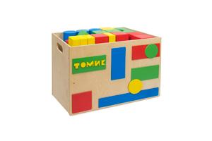 Тележка Томик - Тележка для напольного конструктора Томик изготовлена из фанеры, которую может катать как взрослый, так и сам ребёнок