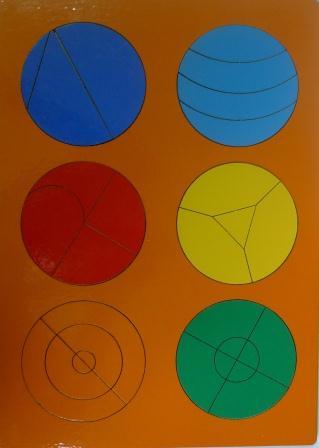 Сложи круг №2 - автор Наталия Семенова. Развивающая игра