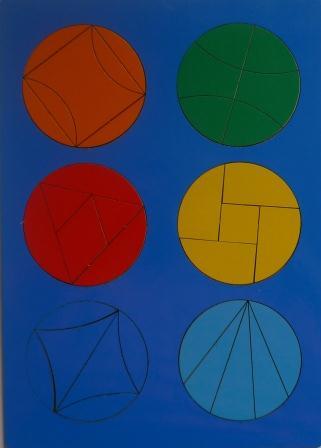 Сложи круг №3 - автор Наталия Семенова. Развивающая игра