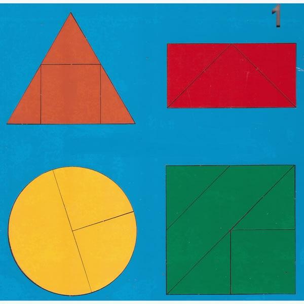 Весёлая геометрия №1 - автор Н.В. Чепель.  Возраст: от 2 до 7 лет Размеры: 20 cm × 20 cm × 0 cm