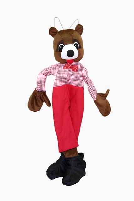 Ростовая кукла. Медведь-топтыжка - Если в руки вставить свои ручки, а в сапожки - ножки, то благодаря вшитым резинкам ростовая кукла мишки будет прекрасно
