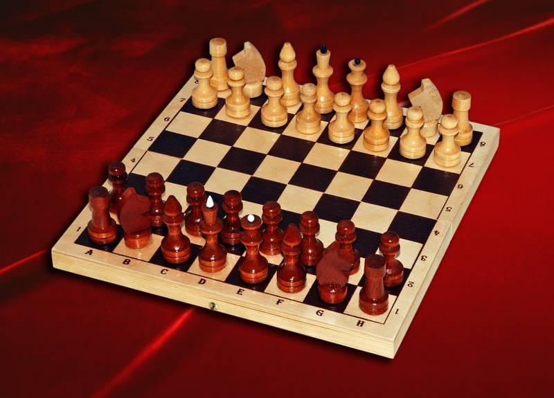 Шахматы лакированные с доской С-1/ШК-5 (300*160) -