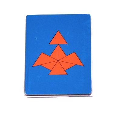Головоломка Треугольники  (Оксва) - Авторская головоломка В. Перельмана. Игра представляет собой один из вариантов геометрических мозаик-головоломок.