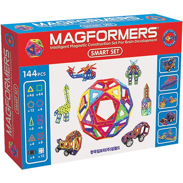 Магнитный конструктор MAGFORMERS 63082 Smart set - Набор «Magformers Smart Set» состоит из 144 элементов.