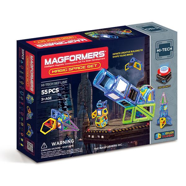 Магнитный конструктор MAGFORMERS 63140 Magic Space - В набор Magformers Magic Space Set входят 55 деталей