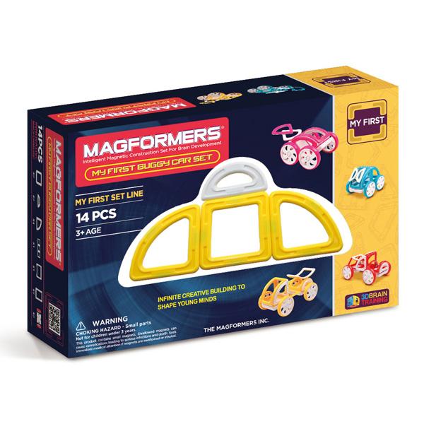 Магнитный конструктор MAGFORMERS 63144 My First Buggy, желтый - Набор «Багги Авто» из серии «Мой Первый Магформерс» отлично подойдет для начала знакомства с развивающим конструктором!
