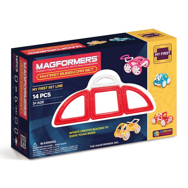 Магнитный конструктор MAGFORMERS 702006(63145) My First Buggy, к - Набор «Багги Авто» из серии «Мой Первый Магформерс» отлично подойдет для начала знакомства с развивающим конструктором!