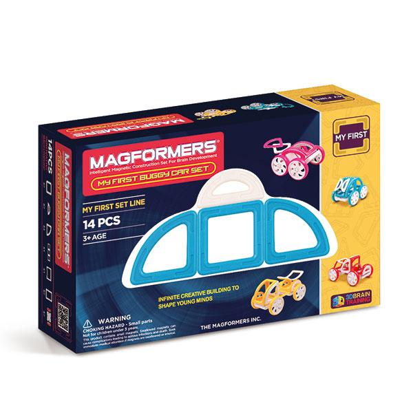 Магнитный конструктор MAGFORMERS 63146 My First Buggy, синий - Набор «Багги Авто» из серии «Мой Первый Магформерс» отлично подойдет для начала знакомства с развивающим конструктором!