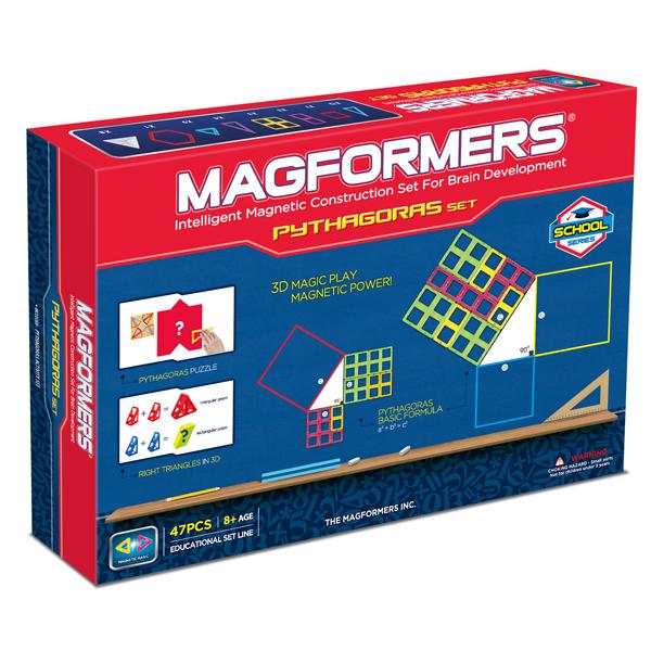 Магнитный конструктор MAGFORMERS 63113 Пифагор - «Magformers Пифагор» идеально подходит для детей, изучающих или собирающихся изучать геометрию — то есть для детей возрастом примерно от 8 до 12 лет.