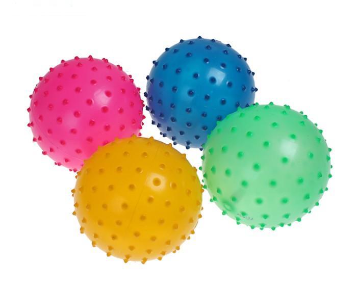 Мяч массажный  16 см - мяч не накачан! цвет голубой