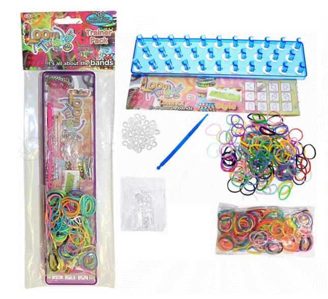 Набор для плетения украшений из резиночек Loom Twister HGL SV117 - В наборе: 200 резинок, станок, 12 S-клипс, крючок, инструкция.  Для детей от 8 лет.