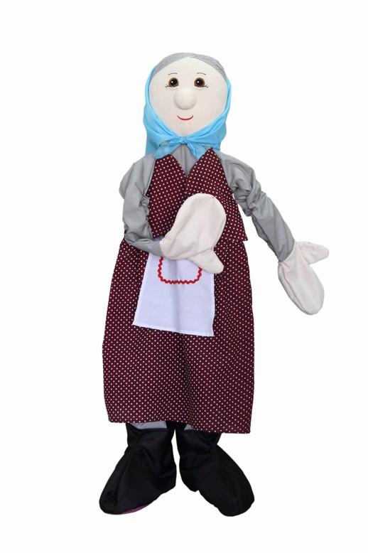 Ростовая кукла. Бабка - Ростовая кукла Деда будет великолепно выглядеть на малышах различной комплекции, так как в руки и ноги вшиты резинки. Возраст: от 3 до 6