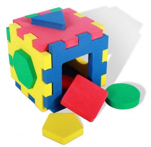 Кубик Геометрия (Бомик) - Размер: 10х10х10 см.