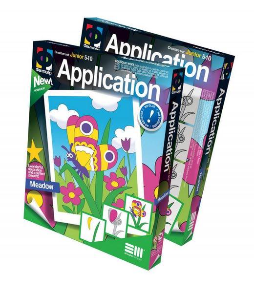 Аппликация Лужок - Набор для создания картинки в технике аппликации.