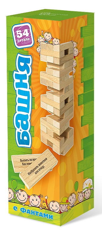 Башня с заданиями для детей - Принцип достаточно прост: из ровных деревянных брусков строится башня (каждый новый «этаж» делается с чередованием направления укладки), а затем игроки начинают аккуратно вытаскивать по одному бруску и ставить его на верх башни.