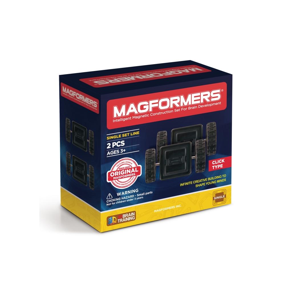 Магнитный конструктор MAGFORMERS 713009 Click Wheels - Набор Magformers Click Wheel 2 содержит 2 элемента:  ●клик-колеса: 2 шт.