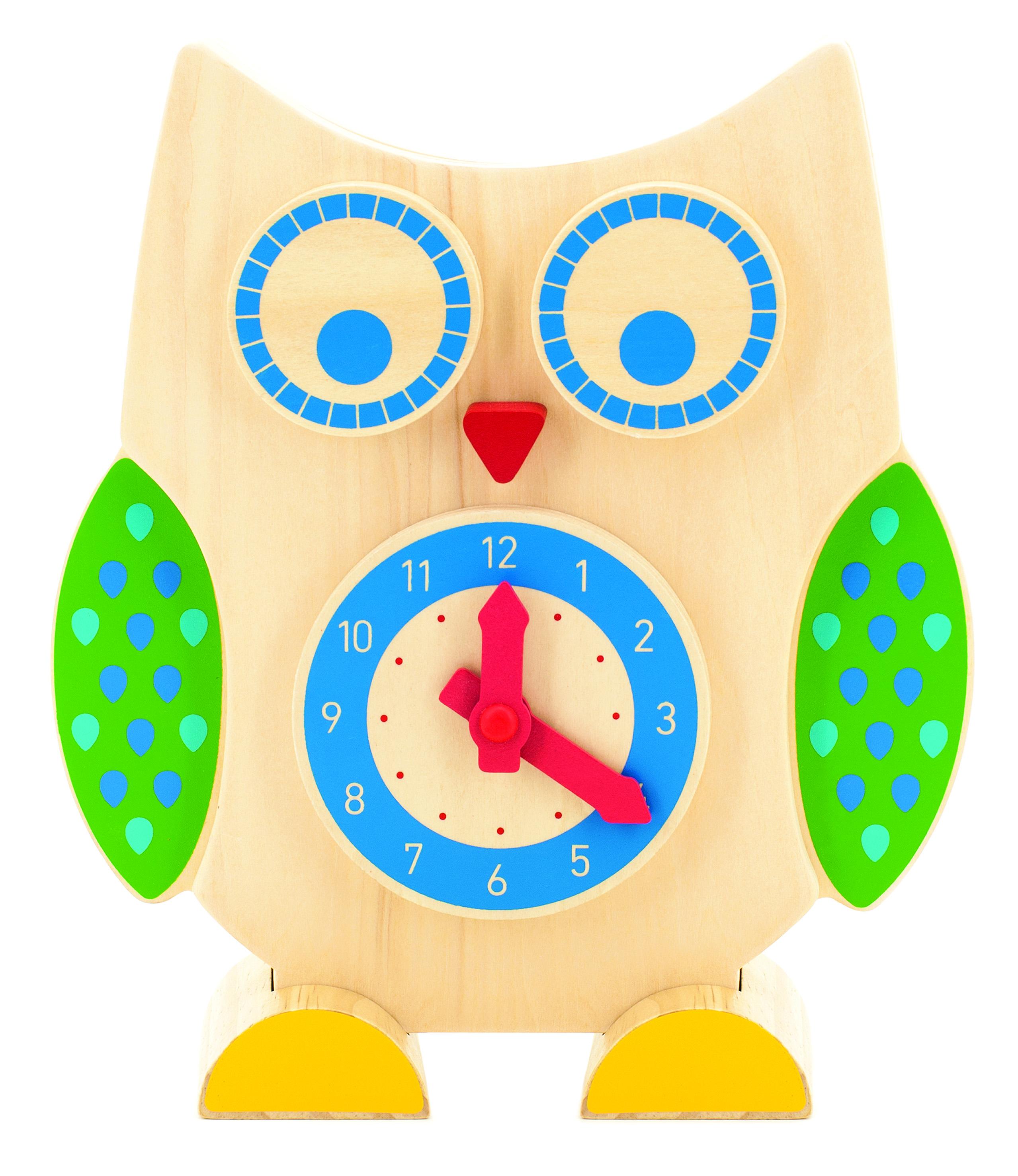 Сова часы и счеты - Деревянная Сова - это оригинальные счеты и часы, которые помогут ребенку изучить время.