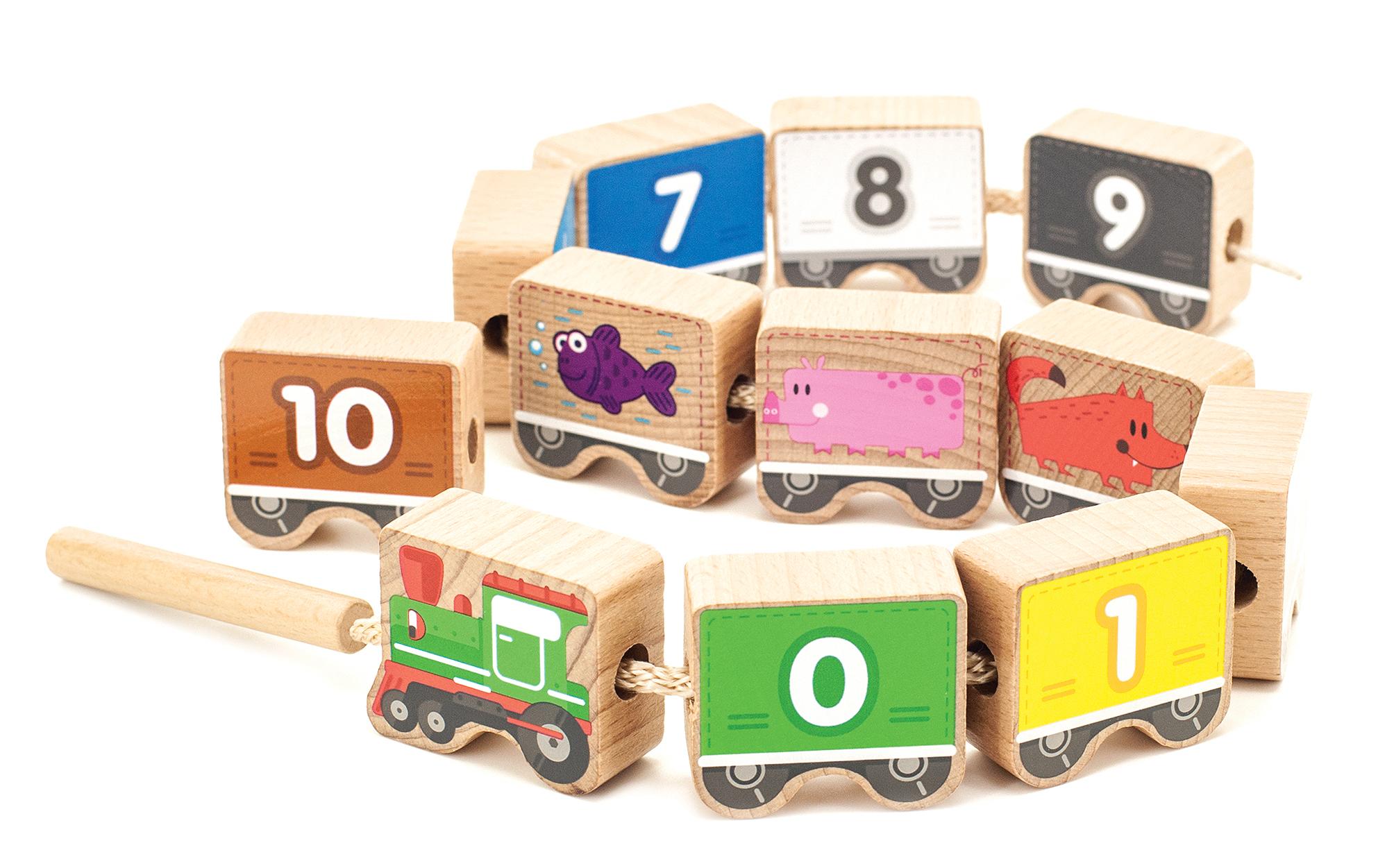 Паровозик шнуровка-цифры МДИ - Комплект: 12 деталей, шнурок с деревянной иглой. Из чего сделана игрушка (состав): дерево, текстиль. Размер упаковки: 22 х 13 х 10 см.