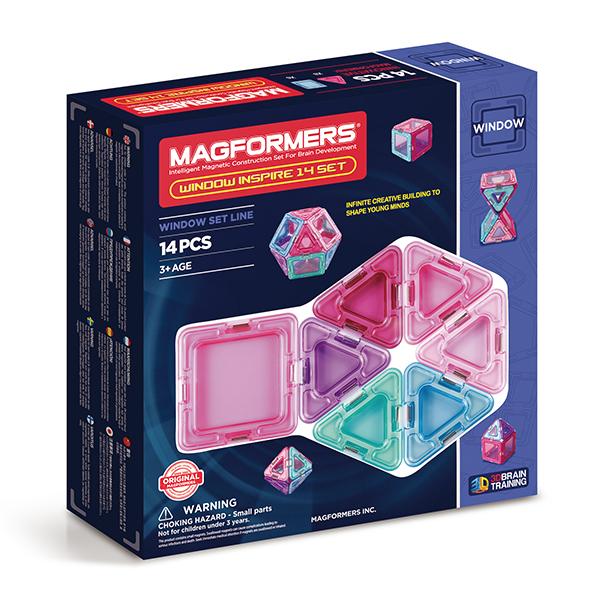 Магнитный конструктор MAGFORMERS 714003 Window Inspire 14 set - Набор Magformers Window Inspire 14 содержит 14 элементов: ● сплошной треугольник: 8 шт. ● сплошной квадрат: 6 шт.