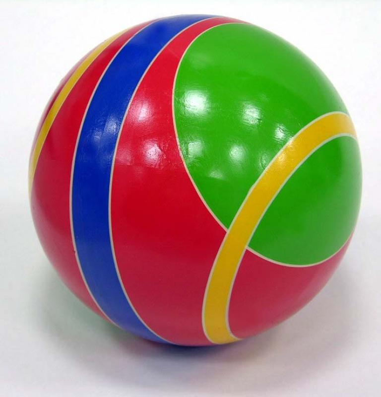 Мяч резиновый 200 мм 102 ЛП (в полоску) -