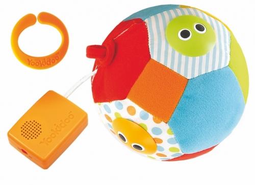 Музыкальный мяч с огоньками и звуком - 4 Забавные мордочки на поверхности мяча загораются. Активируется движением. Если мяч трясти или катать, то последовательно проигрываются 3 разные мелодии.