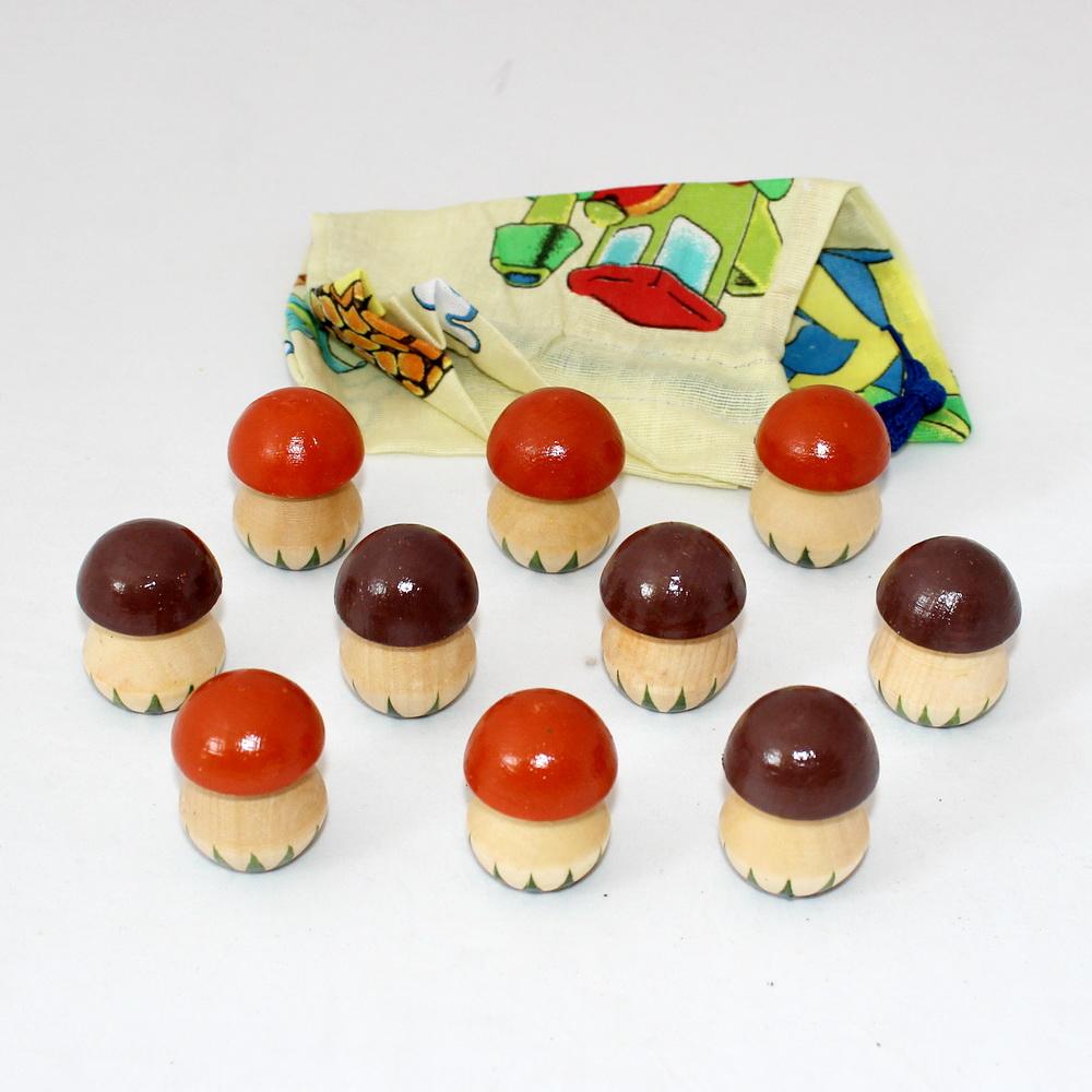 Чудо мешочек счетный материал грибы 10 шт Р-45/923 (РНИ) -