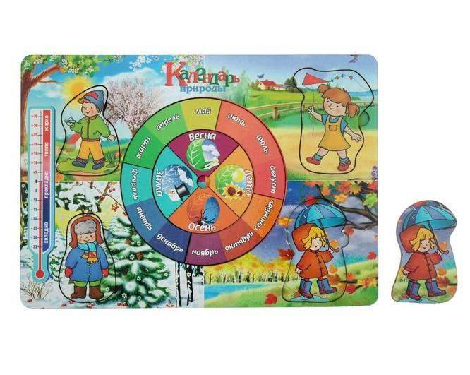 Рамка-вкладыш  «Календарь природы» - размер 280*195 мм