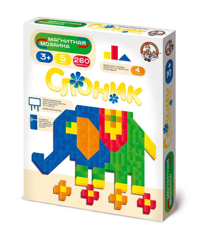 Магнитная мозаика без игрового поля. Слоник - Размер упаковки 2 см × 12,5 см × 15 см