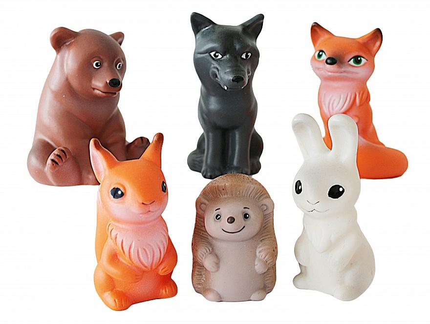 Набор ВЕСНА Животные леса - Набор состоит из шести игрушек: Медведь, Волк, Белка, Заяц, Еж, Лиса.