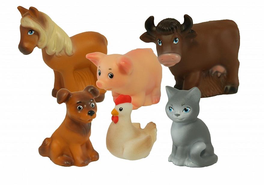 Набор ВЕСНА Домашние животные - Набор состоит из шести игрушек: Лошадь, Свинья, Корова, Собака, Курица, Кошка.