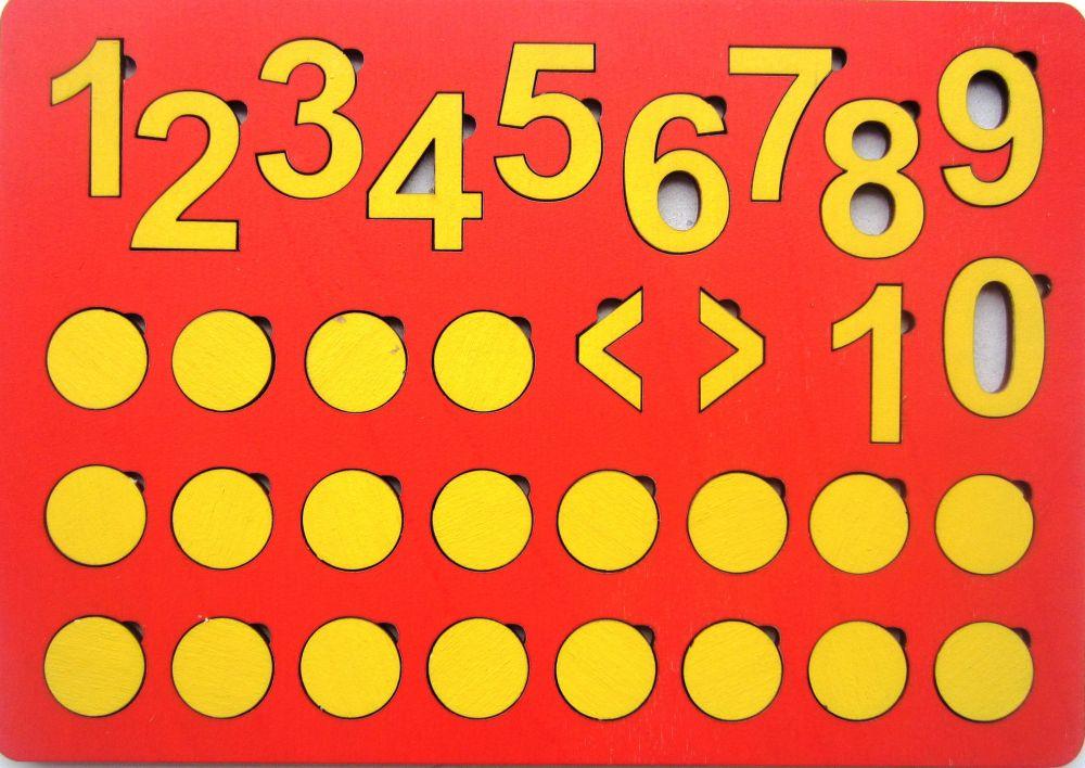 Кружки и цифры (планшет) - Размер планшета: 31,5 см*24 см. Материал - фанера (6мм)