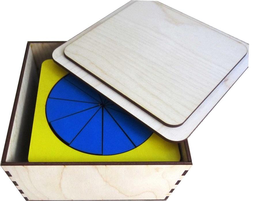 Дроби (деревянная коробка) - Игра для тренировки навыков устного счета и усвоения понятий