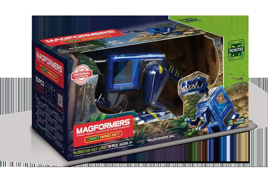 Магнитный конструктор MAGFORMERS 716003 Dino Rano set - Dino Rano set — это возможность собрать большого и грозного тираннозавра, которого вы наверняка видели в фантастических фильмах.