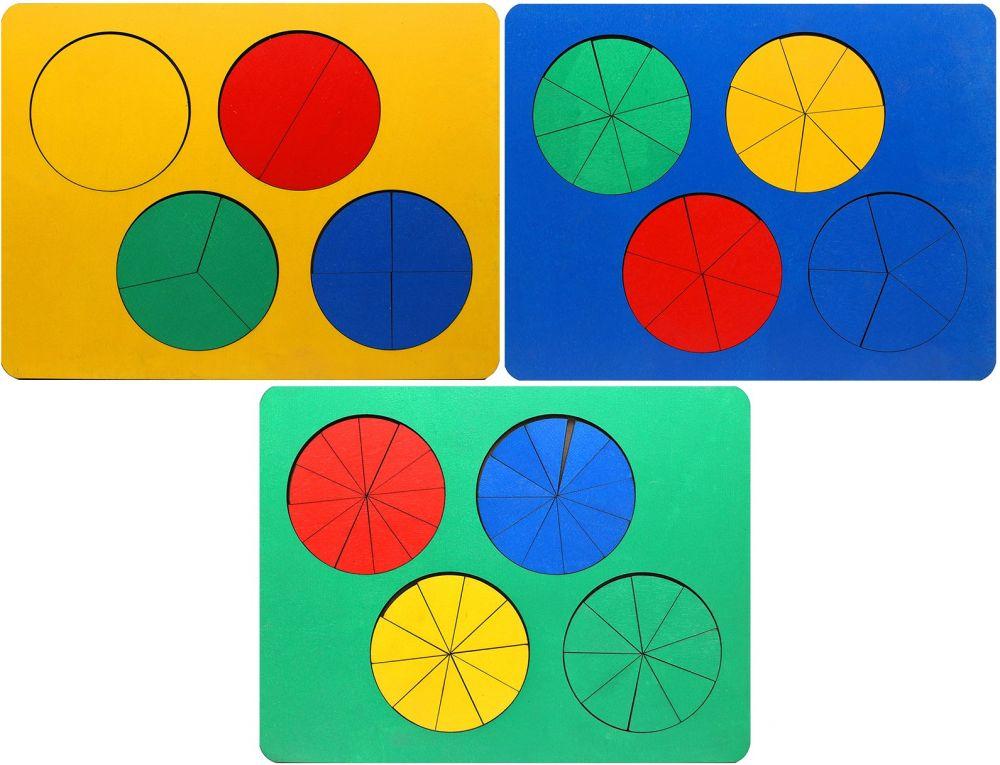 Дроби (набор из трех уровней) - Игра для тренировки навыков устного счета и усвоения понятий