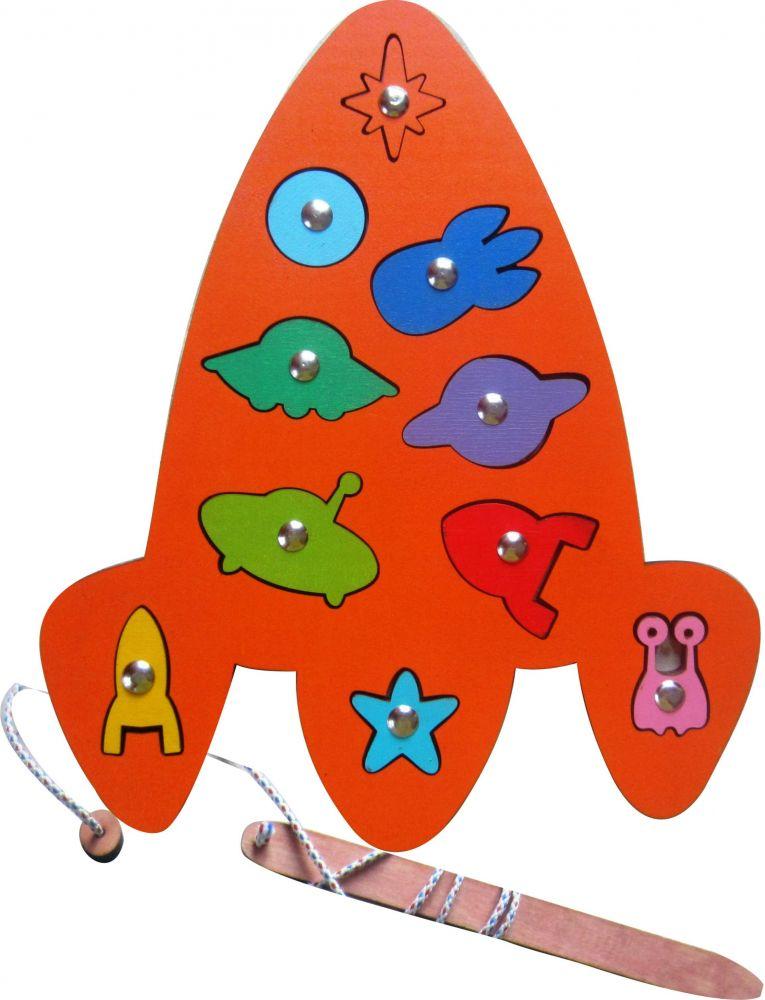 Игра с магнитами Космос - Увлекательная детская развивающая игра на ловкость - рыбалка
