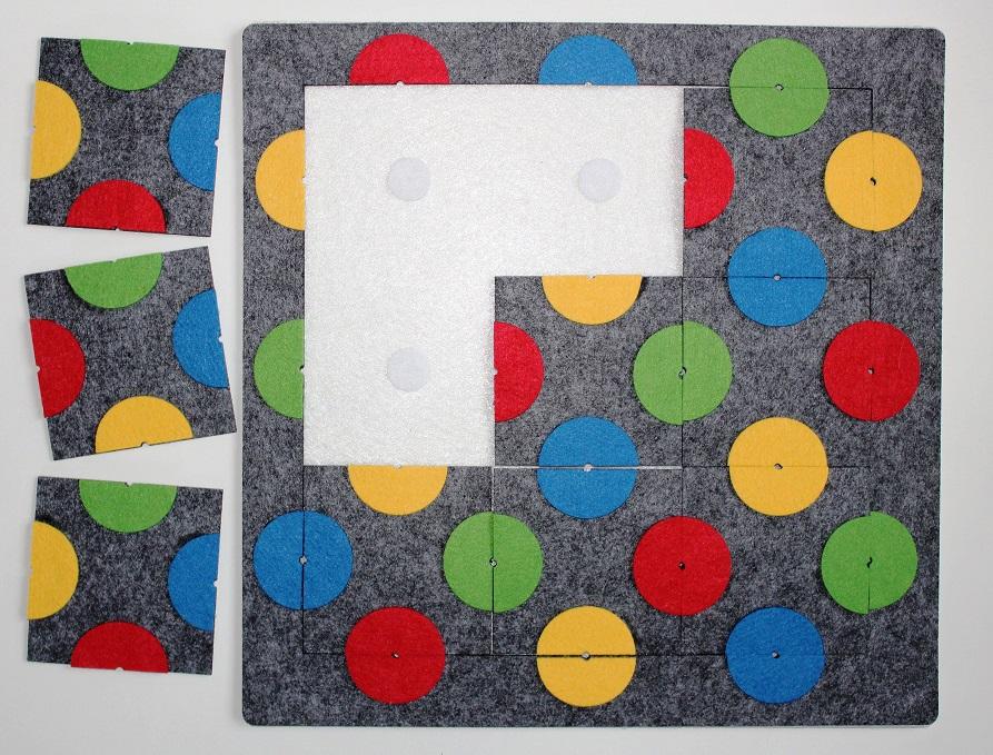 Коврик-головоломка Круги - Игра для развития концентрации внимания и умения решать нестандартные задачи