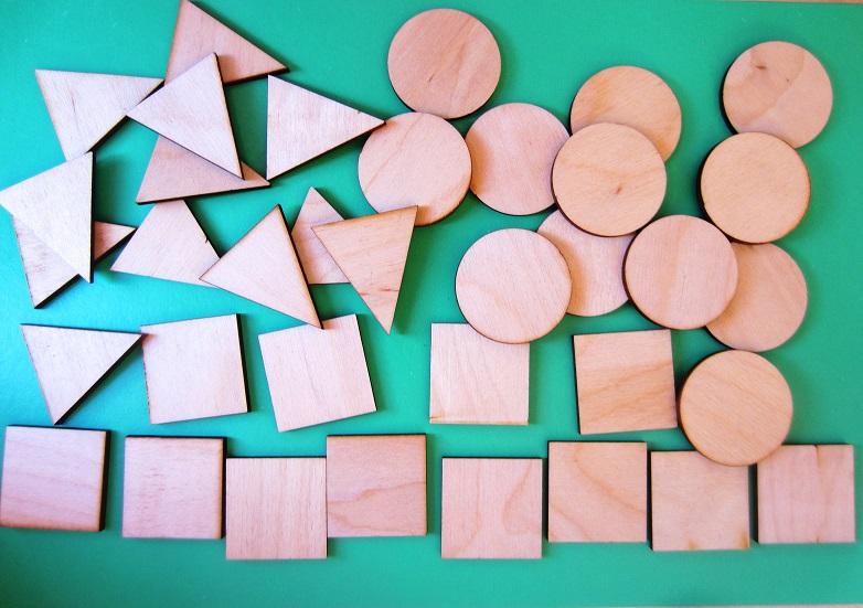 Счетный набор Фигуры - Размер фигур 3 см-3,5 см В наборе 36 фигур