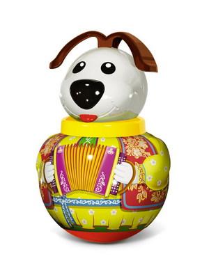 Неваляшка малая Собачка «Дружок» в п/пакете - Неваляшка – это традиционная игрушка для малышей, научившихся сидеть.