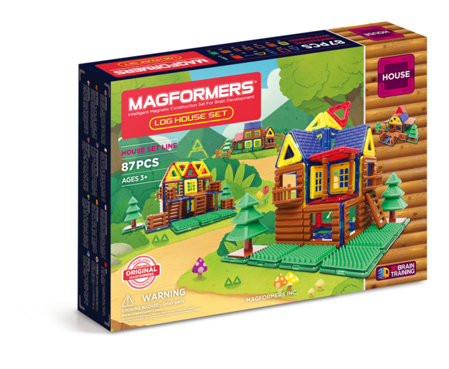 Магнитный конструктор MAGFORMERS 705004 Log House Set -